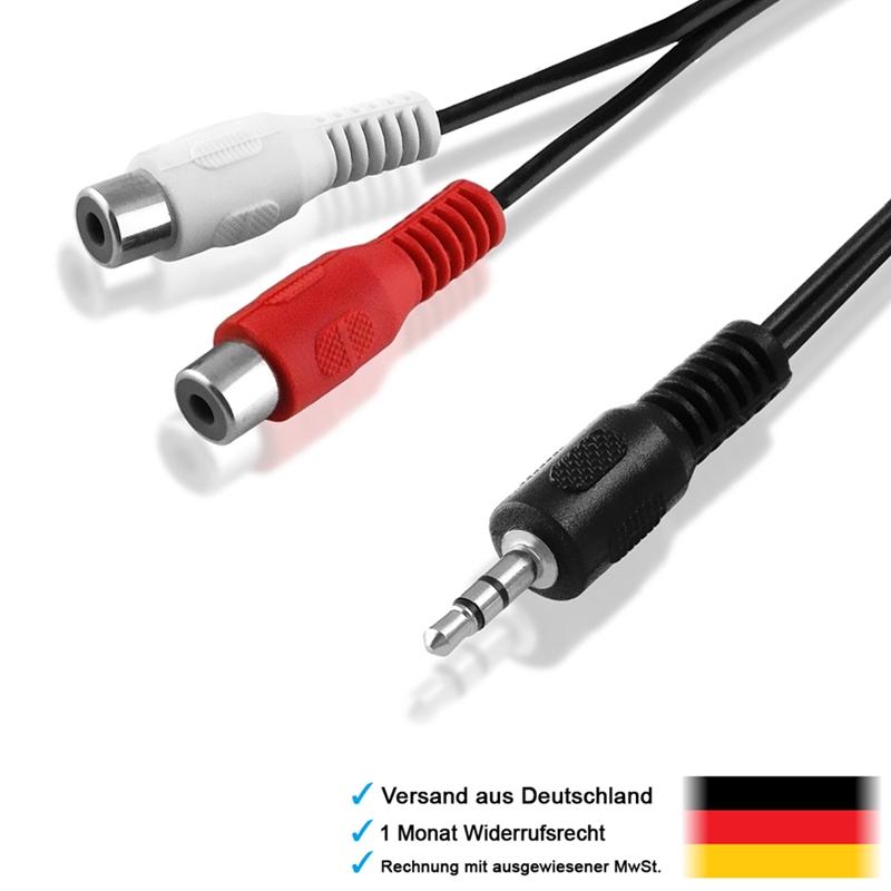 20cm y chinch kabel adapter 2x cinch buchse weiblich auf 1x 3 5mm klinke stecker ebay. Black Bedroom Furniture Sets. Home Design Ideas