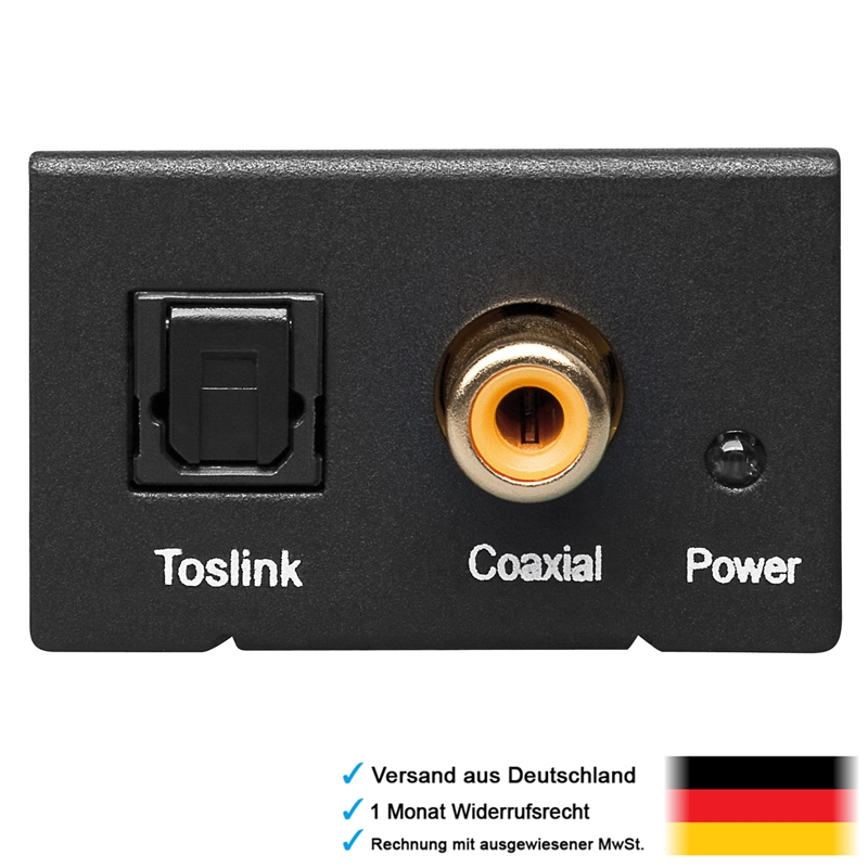 audio koaxial optical digital adapter wandler in opto coaxial out 2 cinch chinch ebay. Black Bedroom Furniture Sets. Home Design Ideas